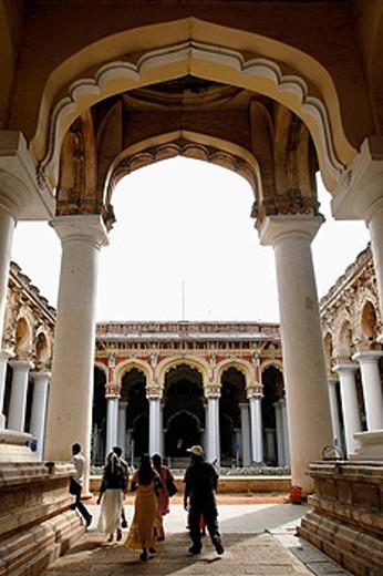 The Thirumalai Nayak Palace in Madurai, Tamil nadu, India : Stock Photo