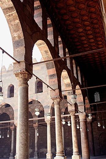 Al-Nasser Mohamed mosque at the Citadel, Cairo, Egypt : Stock Photo