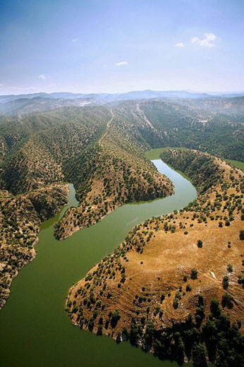 Landscape, Sierra Morena, Hornachuelos. Cordoba province, Andalucia, Spain : Stock Photo