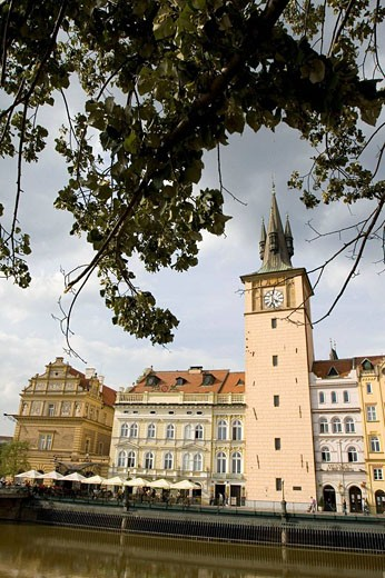 Smetana Museum and Smetana Embankment, Prague, Czech republic : Stock Photo