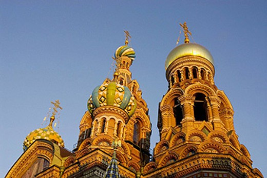 Stock Photo: 1566-399938 Russia. St. Petersburg. Church on Spilled Blood. Sunset.