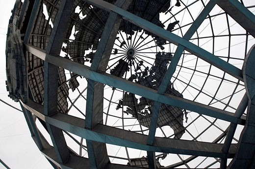 United States map, Unisphere, Flushing Meadows, Corona Park, Queens, New York, USA : Stock Photo