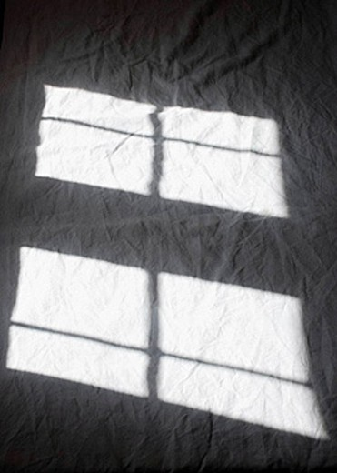 Stock Photo: 1566-401288 Window shadow on bed in the afternoon, Rodalquilar. Cabo de Gata, Almeria province, Andalucia, Spain