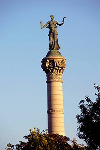 Soldiers and Sailors Monument on the grounds of the State Capitol Building at Des Moines, Iowa, USA : Stock Photo