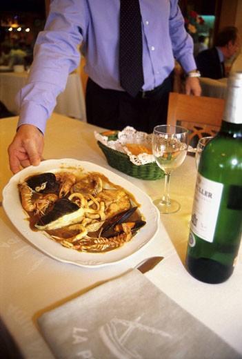 Romesco in La Puda restaurant. Tarragona, Catalonia. Spain : Stock Photo