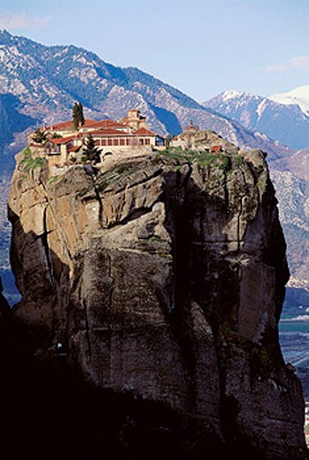 Stock Photo: 1566-405937 Hagia Triada Monastery, Meteora. Thessaly, Greece