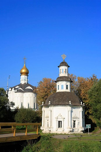Stock Photo: 1566-407731 The Chapel of the Pyatnitsky Well, Trinity Lavra of St. Sergius, Sergiyev Posad, Moscow region, Russia