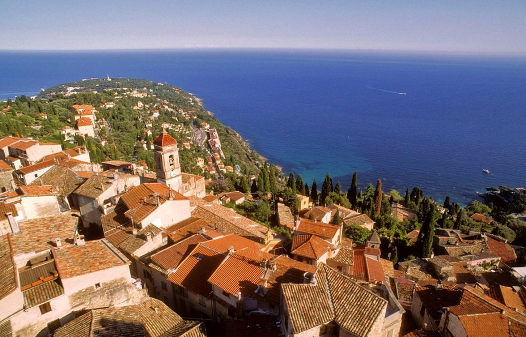 Stock Photo: 1566-407915 Roquebrune-Cap-Martin village. Alpes Maritime. Côte d´Azur. France.