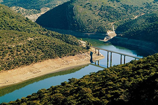 Stock Photo: 1566-408124 Tagus River. Monfrague Natural Park (Biosphere Reserve). Cáceres province. Extremadura, Spain