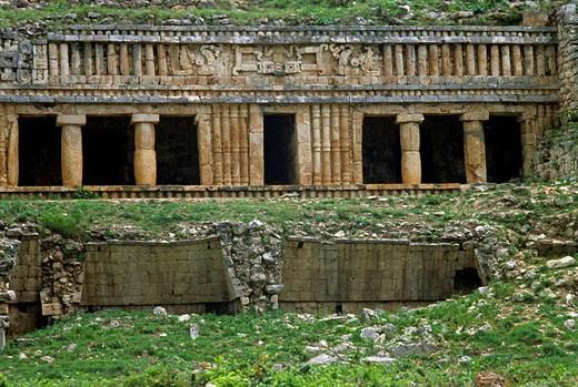 Sayil Maya archaeological site. Yucatan, Mexico : Stock Photo