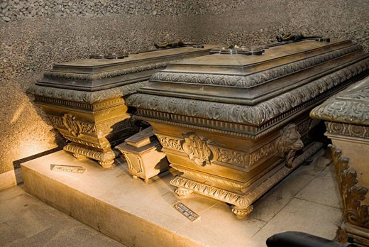 Imperial Crypt Vaults of Archduke Franz Karl and wife Archduchess Sophie, Vienna. Austria : Stock Photo