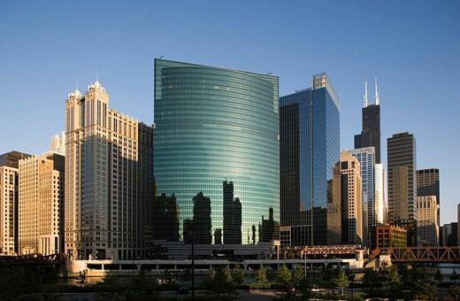 SKYLINE LOOP, CHICAGO, ILLINOIS, USA : Stock Photo