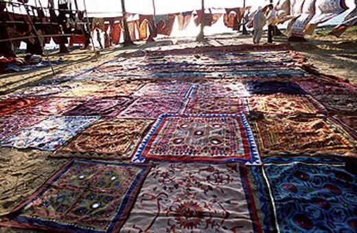 Flea market. Anjuna. Goa, India. : Stock Photo