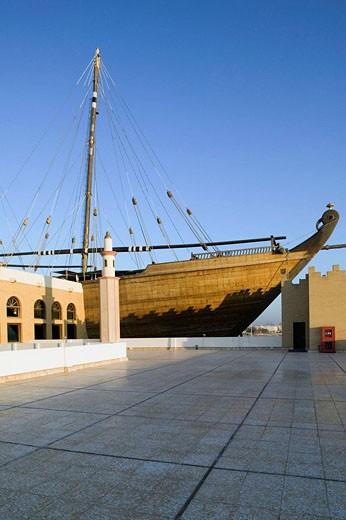 Stock Photo: 1566-412112 KUWAIT-Kuwait City: Al-Hashemi Marine Museum- Al-Hashemi II - World´s Largest Wooden  Boat (b.1998)