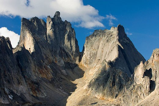 Stock Photo: 1566-412659 Jagged peaks and ridges of Monolith Mountain, Tombstone Territorial Park, Yukon, Canada