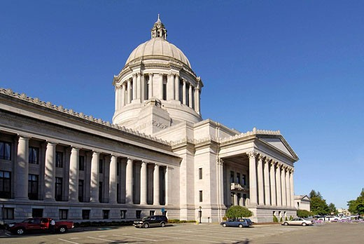 Stock Photo: 1566-413896 Capitol Building Olympia Washington WA US United States capital legislature legislative laws legal government representatives architects Walter Wilder and Harry White