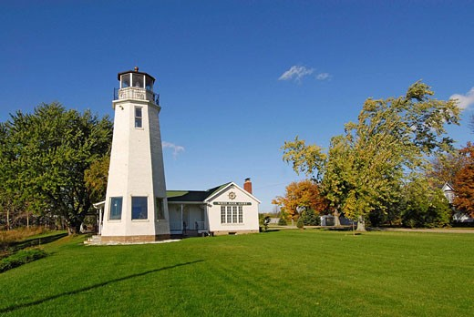 White Rock Lighthouse located at White Rock Michigan MI : Stock Photo