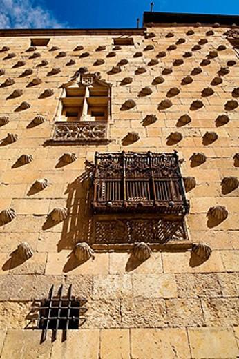 Casa de las Conchas (15th century), Salamanca. Castilla-León, Spain : Stock Photo