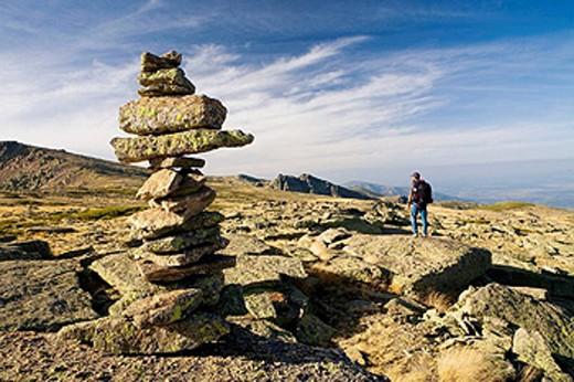 El Calvitero (2.401 m.). Candelario Natural Park,  Salamanca province. Castilla y Leon. Spain. : Stock Photo