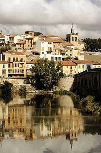 Zamora and Douro river, Via de la Plata, Zamora province, Castilla y León, Spain : Stock Photo
