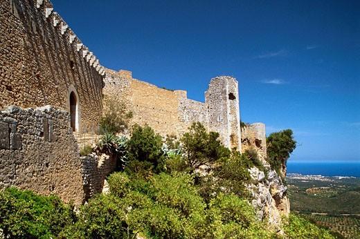 The Castell (castle) de Santueri. Mallorca. Balearic Islands. Spain. : Stock Photo