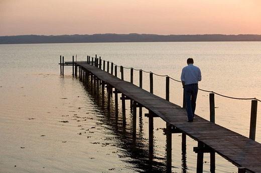 Sunset on the beach. Ebeltoft. Denmark. : Stock Photo