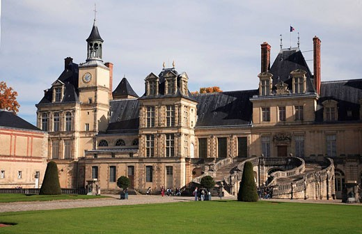 France, Ile_de_France, Fontainebleau, palace : Stock Photo