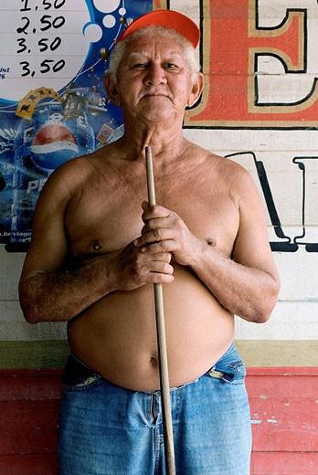 Stock Photo: 1566-417179 Raimundo Picara, professional pool player, Santarém. Brazil