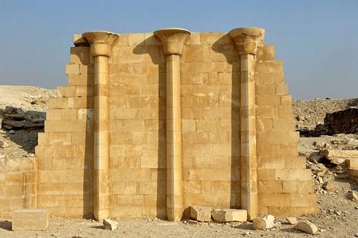Stock Photo: 1566-419904 Southern House. The Step Pyramid at Sakkara (or Saqqara). Egypt.