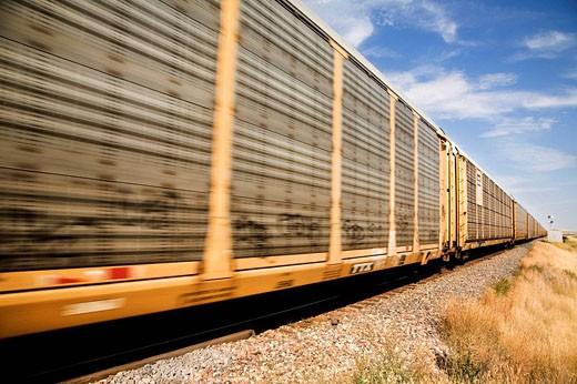 A freight train in Saskatchewan, Canada. : Stock Photo
