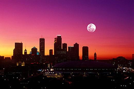 Stock Photo: 1566-421674 Downtown skyline  Minneapolis  Minnesota  USA