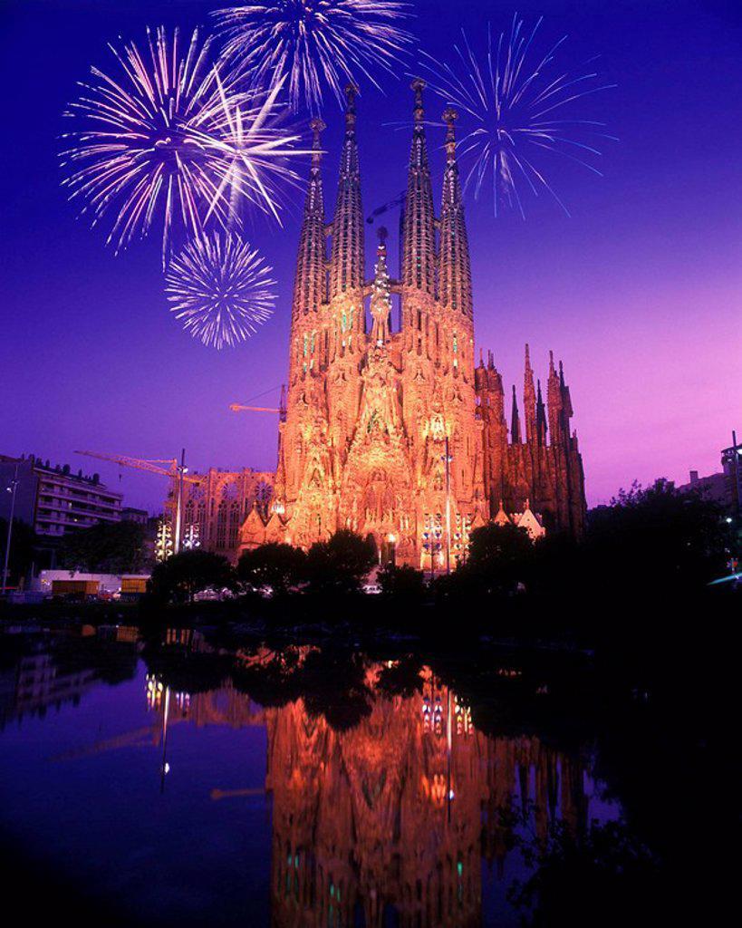 Stock Photo: 1566-424166 Sagrada familia, barcelona, catalunya, spain
