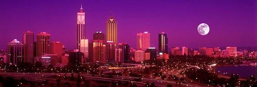Downtown skyline, perth, western australia, australia : Stock Photo