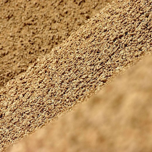 Loading barge with animal feed. Rhône River, France : Stock Photo