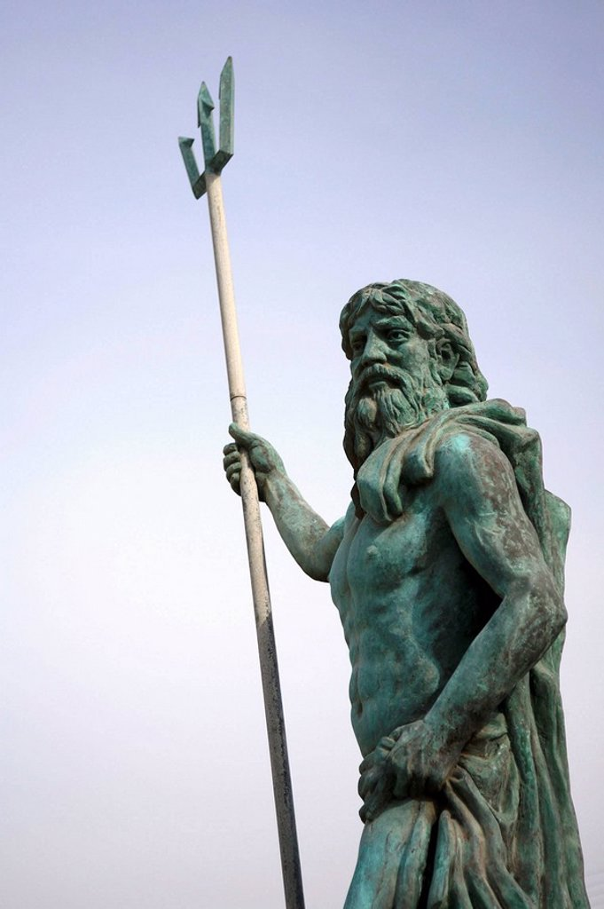 A statue of Poseidon on the lsland of Kos. Kos. Greece : Stock Photo