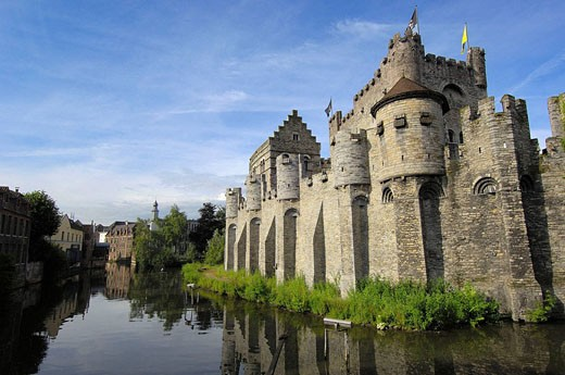 Gravensteen (Castle of the Counts). Ghent. Flanders, Belgium : Stock Photo