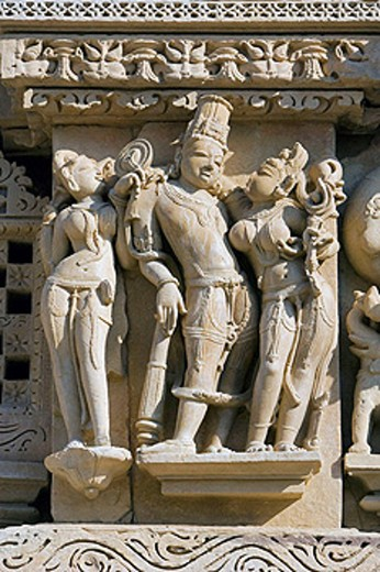 Parshvanath Temple,  Khajuraho. Madhya Pradesh, India. : Stock Photo