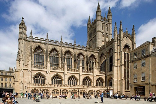 Stock Photo: 1566-426708 Bath, Abbey Church (1499) by Bishop King, Somerset, UK