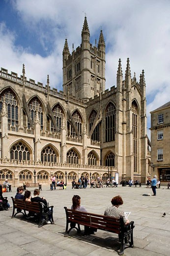 Bath, Abbey Church, (1499) , by Bishop King, Somerset, UK : Stock Photo