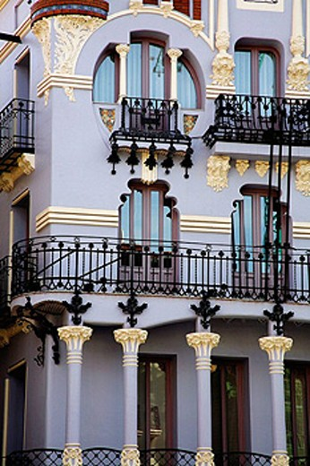 El Torico house in art nouveau style, Plaza del Torico, Teruel. Aragon, Spain : Stock Photo