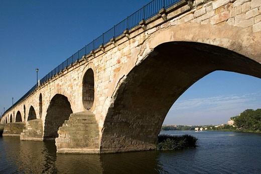 Zamora´s bridge. Spain. : Stock Photo