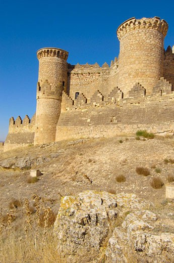 Stock Photo: 1566-429359 Castillo. Belmonte. Cuenca province. La Mancha. Castille. Spain