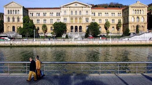 Stock Photo: 1566-429440 Deusto bridge and University. Bilbao. Bizkaia. Euskadi. Spain.