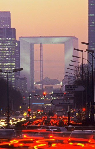 The Great Arch at la Défense. Paris. France. : Stock Photo