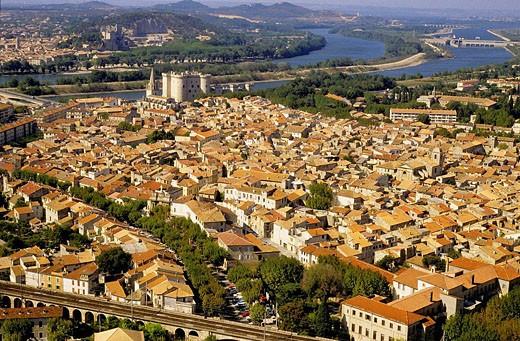 Stock Photo: 1566-429973 Tarascon and Rhône River. Bouches-du-Rhône, France