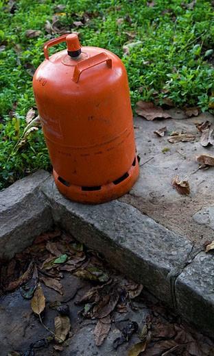 Butane gas cylinder : Stock Photo