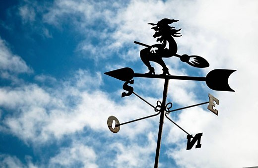Weather vane in Teguise, Lanzarote, Canarian islands, Spain. : Stock Photo
