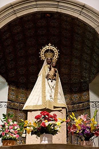 Virgen La Morenita, Sierra de Francia, Spain. : Stock Photo
