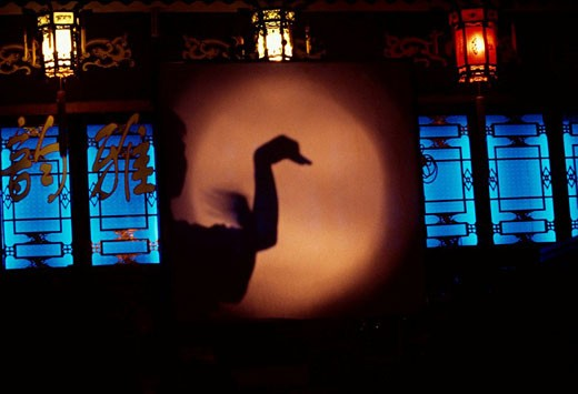 Stock Photo: 1566-433761 Shadow theatre, Chengdu, China, Art