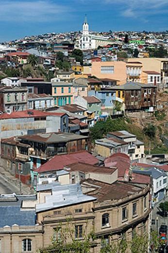 CERRO SAN JUAN DE DIOS BELLAVISTA VALPARAISO CHILE : Stock Photo